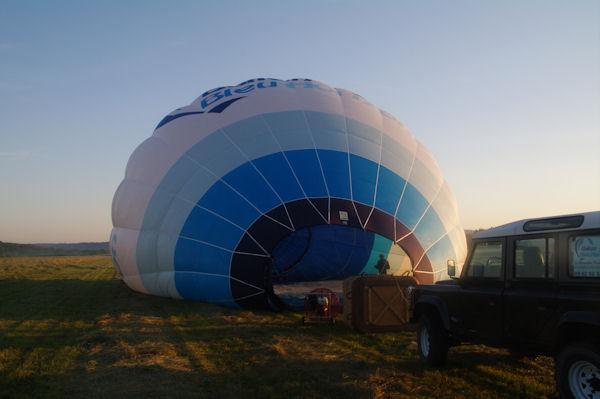 Gonflage du ballon à l_air froid