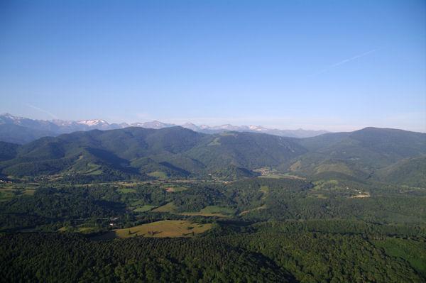 Panorama Sud au dessus de la vallée du Salat