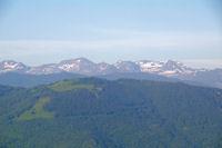 De gauche a droite, le Pic de Tartereau, le Pic de Serre Haute, le Pic de Canejan et le Pic de Crabere
