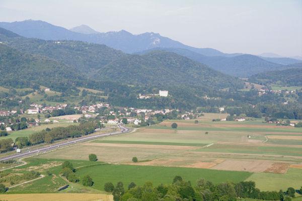 Prat Bonrepaux, au fond, le Pic de Cagire