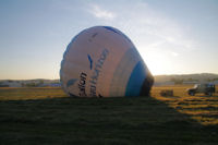 Gonflage du ballon a l'air chaud