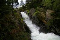 La partie superieure des cascades d'Ars