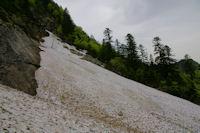 Une coulee d'avalanche sous le Tuc de Lausis