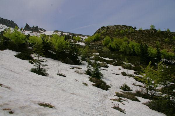 Le GR10 enneigé à la Fontaine de Fontarech