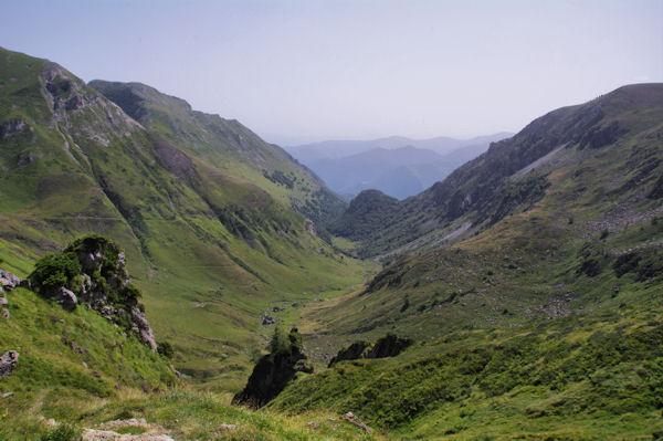 Le vallon du Saleix depuis le Port de Saleix