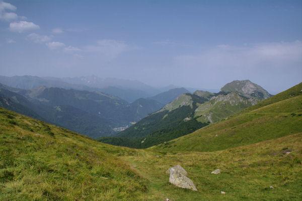 La vallée du Garbet depuis le Port de Saleix