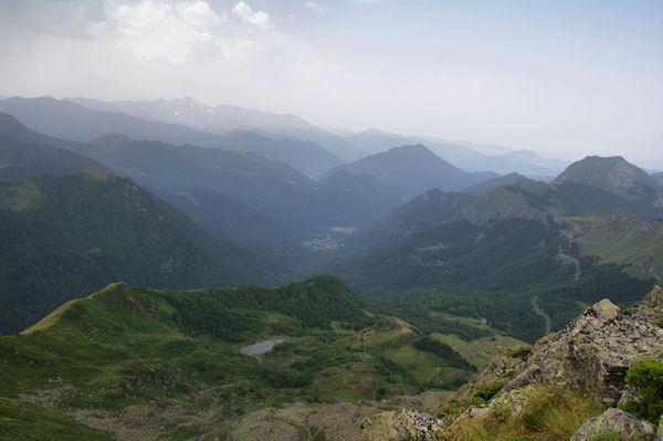L_Etang de Labant, Aulus les Bains et le Mont Valier