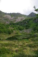 L'Etang de Labant domine par le Pic de Cabanatous