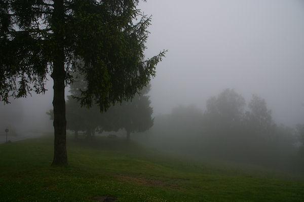 Paysage embrumés près du Centre Médico-éducatif au Col des Marrous
