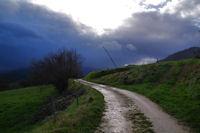 Ambiance orageuse en arrvant à Soula