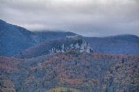 Le Chateau de Montsegur depuis la Croix de Ste Ruffine