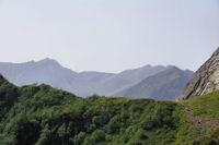 Les Puigs Peric et le Pic de l'Etang de Faury depuis le Col de l'Egue
