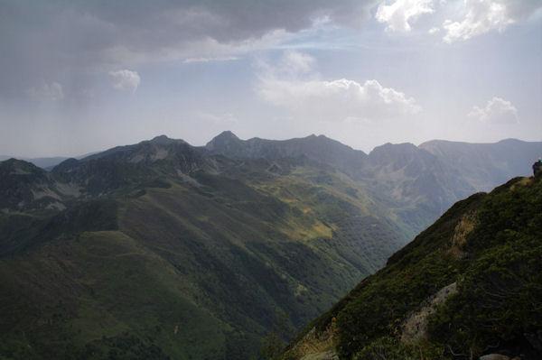 Pic de Balbonne, Pic de la Camisette, Roc Blanc, Pic de Baxouillade, Pic des Récantous, Puig de Terrers et Pic des Mortiers