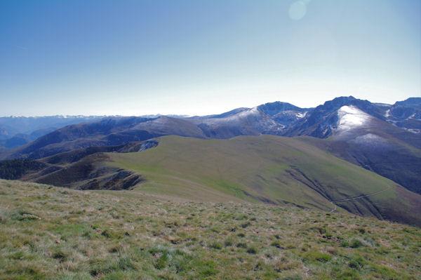 La crête Sud du Pic d_Estibat du Sommet des Griets au Col del_Estagnou