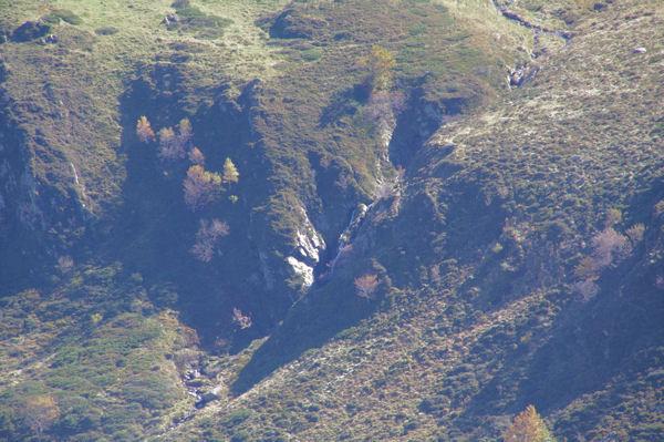 Une cascade sur le ruisseau de Loumet