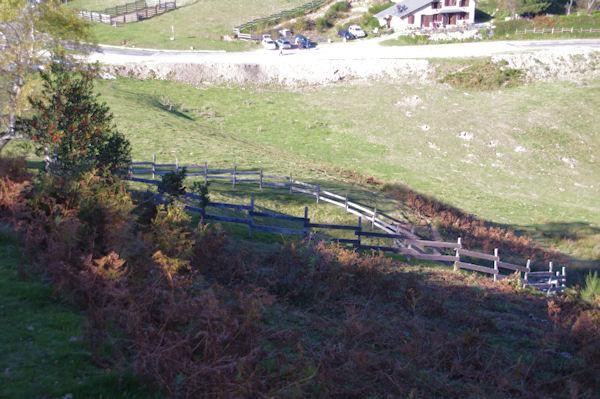Un parc à bestiaux au Col de Port