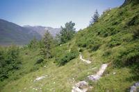 Le chemin au dessus de Paumeres