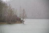 Pluie d'hiver sur le Lac de Mondely