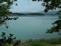 Le Lac Montbel juste apres le barrage de Montbel