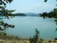 Le Lac Montbel depuis sous la Serre de Pourtel