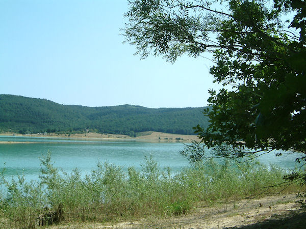Le Lac Montbel depuis la forêt de Léran