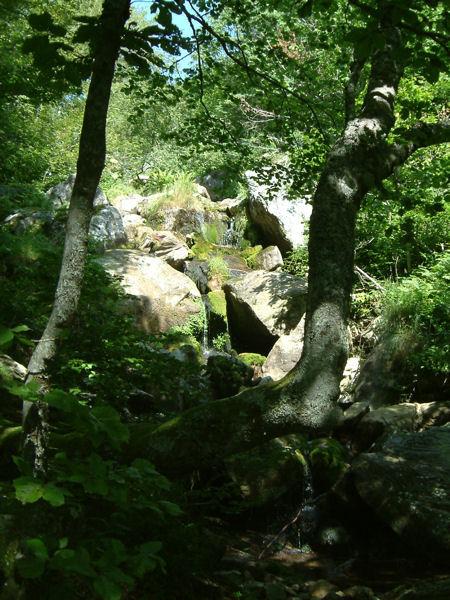 Une cascade près du lac des Monts d&#39Olmes