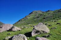 La cabane de Garsan et le Pic de Pradel