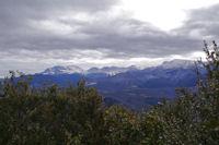 Le Pic de Soularac, le Pic de St Barthelemy, le Pic Galinat, le Pic du Han, le Trebezes et le Mont Fourcat depuis le Roc Marot