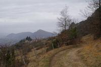 Le chemin revenant vers Roquefixade