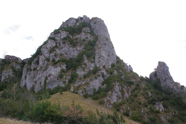 Le pog du château de Roquefixade