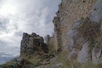 L'entree du chateau de Roquefixade