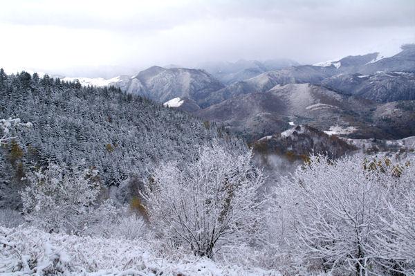 En montant au Col du Traucadou, belle gelée!