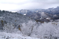 En montant au Col du Traucadou, belle gelee!
