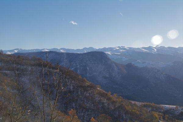 Les Pyrénées Ariègeoises depuis Les Brougues