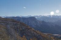 Les Pyrenees Ariegeoises depuis Les Brougues