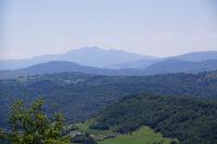 Le Pic de St Barthelemy et le Pic de Soularac depuis la descente du Mont Calbech