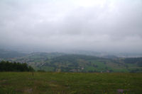 La vallee deu Salat dans la brume depuis le Tuc de Montcalibert