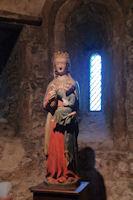 La Vierge a l'enfant dans la basilique de St Lizier