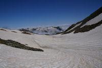 Le vallon menant au Pic du Montcalm