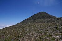 Les dernieres pentes donnant acces au Pic du Montcalm