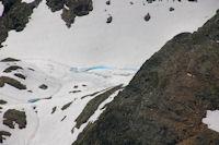 L'Etang de Canalbonne encore gele depuis le Pic du Montcalm