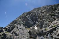 La caillasse pour monter au Pic d'Estats