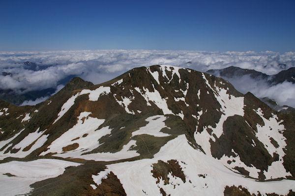 Le Pic du Montcalm depuis la Pique d_Estats
