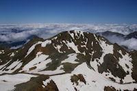 Le Pic du Montcalm depuis la Pique d'Estats