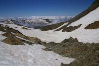 Le vallon sous la face Ouest du Pic du Montcalm