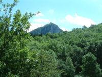 Vue du Chateau de Montsegur depuis Pechiquelle