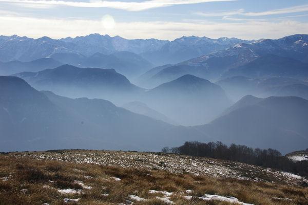 Brumes montantes sur les Pyrénées Ariègeoises