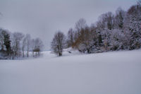 Joli champ de neige au Pech de Naut