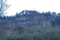 Les falaises de la Quière de Panefabe
