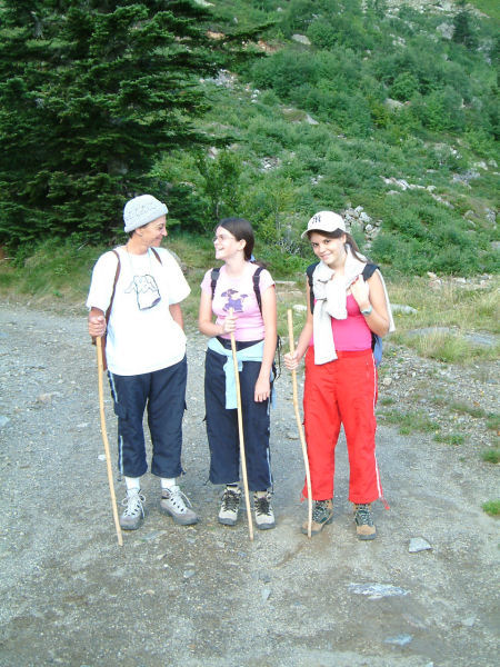 Marie Françoise, Camille et Julie peu après le départ